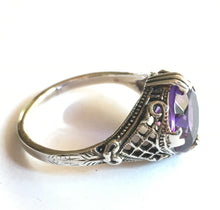 Load image into Gallery viewer, Amethyst Ring 4 Carat 1930's Retro Design Size 8