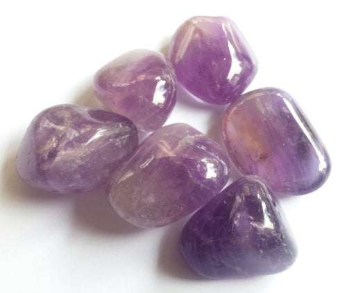 Amethyst Tumbled Amethyst in quarter pound lot pocket sized