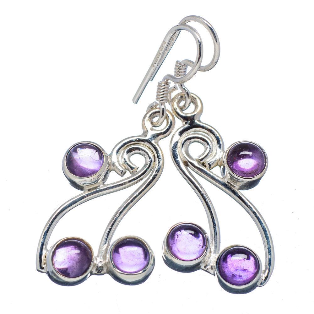 Amethyst Earrings Celtic Swirl in Sterling Silver