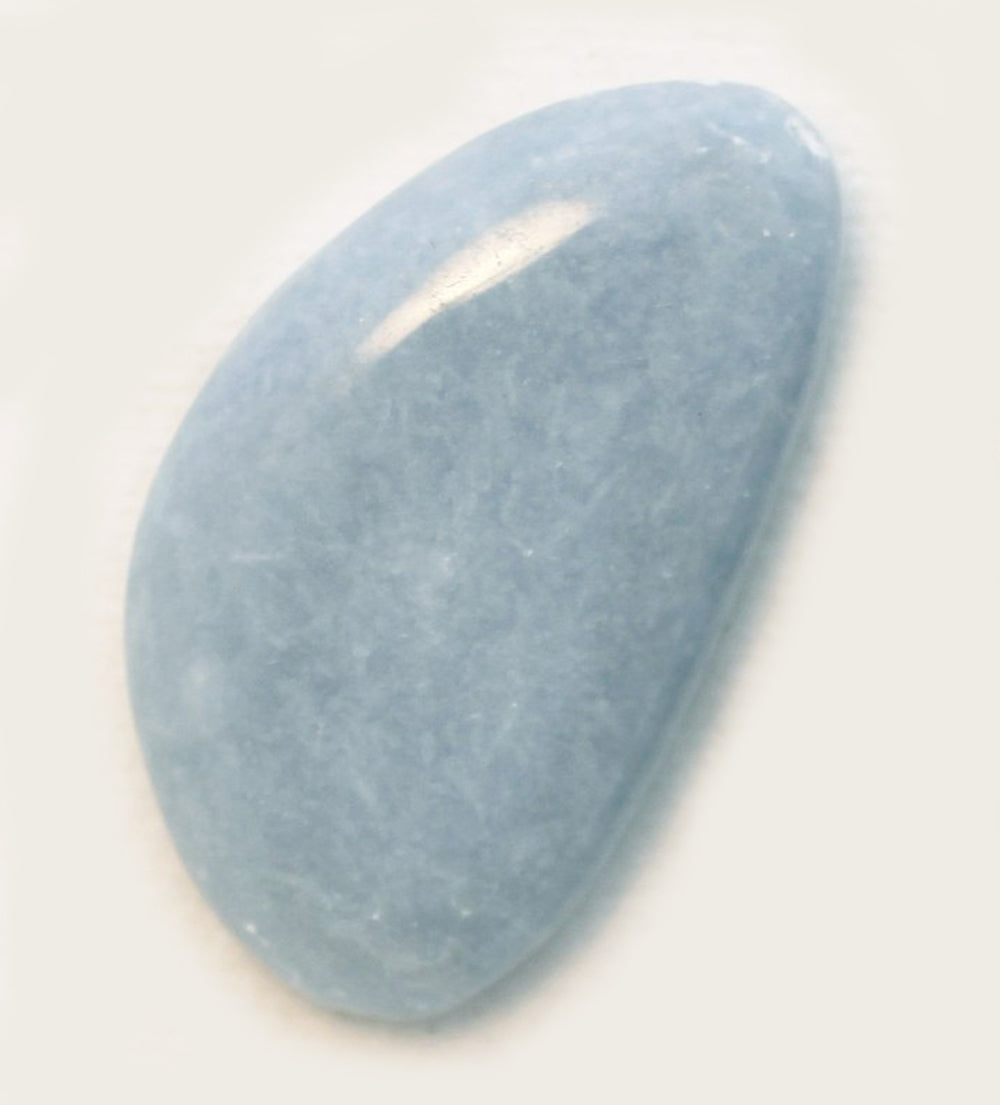 Angelite Small Flat Stone perfect for a pocket
