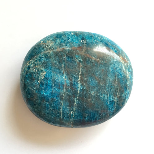 Blue Apatite Palm Stone 2 by 2.4 Inch