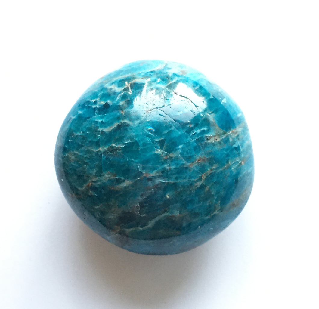Blue Apatite palm stone 3.7 oz