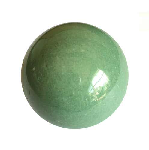 Green Aventurine Sphere 35mm for trauma release from the first seven years of childhood.