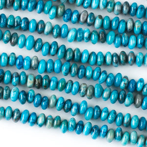 Blue Crazy Lace Agate rondelle beads