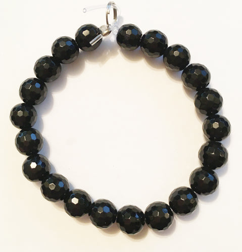 Black Onyx Beads 10mm Round Faceted Beads