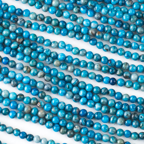 Blue Crazy Lace Agate 4mm Round Beads
