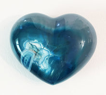 Load image into Gallery viewer, Blue Agate Puffy Heart No. 7