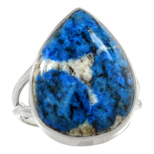 Load image into Gallery viewer, K2 Ring Azurite in Granite size 7.5