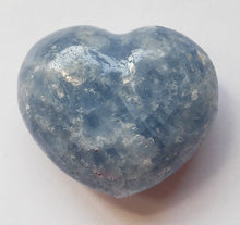 Load image into Gallery viewer, Blue Calcite Mini Puffy Heart for Easier Detox - Put in your Bath or Foot Bath!