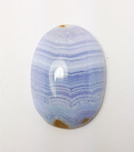 Load image into Gallery viewer, Blue Lace Chalcedony Oval Cabochon