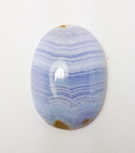 Blue Lace Chalcedony Oval Cabochon