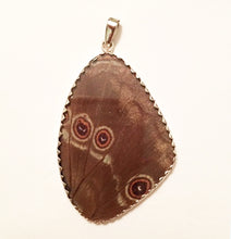 Load image into Gallery viewer, Butterfly Wing Blue Morpho Silver Pendant XXL