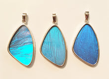 Load image into Gallery viewer, Blue Morpho Butterfly Pendant in size large