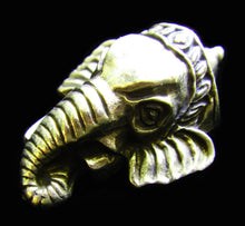 Load image into Gallery viewer, Lord Ganesh Head Solid Brass Charm