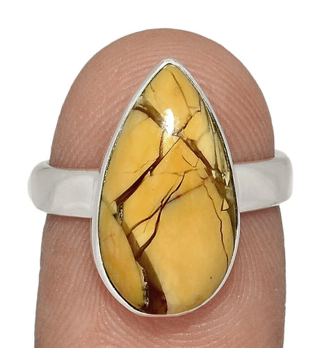 Brecciated Mookaite Ring Size 6 in Sterling Silver