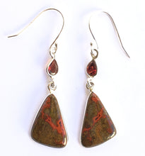 Load image into Gallery viewer, Cady Mountain Jasper Earrings with Garnets - for work that pays off big.