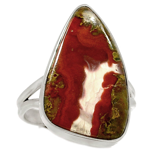 Cady Mountain Agate Free-Form Sterling Silver Ring in Size 9.5 - Rare