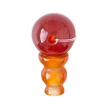 Natural Carnelian Guru Bead 10mm for stringing your own mala