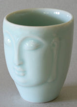 Load image into Gallery viewer, Celadon Glazed Porcelain Buddha Face Cup