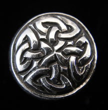Load image into Gallery viewer, Petite Celtic Eternity 11mm Sterling Silver Button