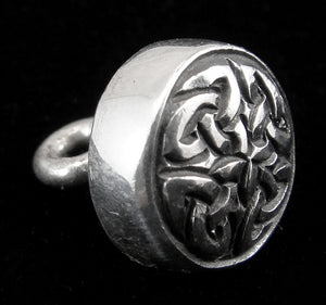 Petite Celtic Eternity 11mm Sterling Silver Button