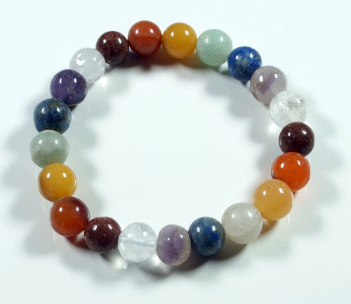 Natural Gemstone Chakra Bracelet Medium Size