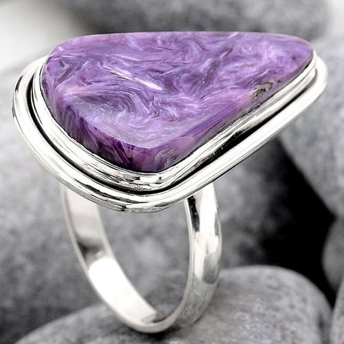 Charoite Ring Size 7.5