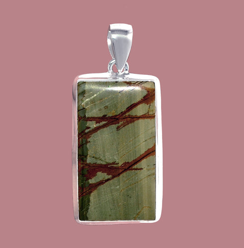 Picasso Jasper Pendant with wonderful markings.  Also known as Cherry Creek Jasper.