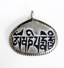 Load image into Gallery viewer, Mani Stone with Eyes of Buddha Pendant