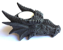Load image into Gallery viewer, Dragon Tea Light Holder cast from lightweight Polyresin.