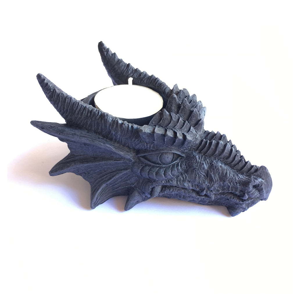 Dragon Tea Light Holder cast from lightweight Polyresin.