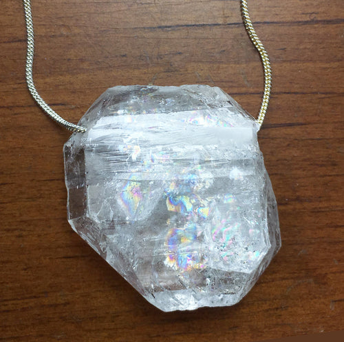 Faden Clear Quartz Necklace Crystal Tab for Ultimate Alignment