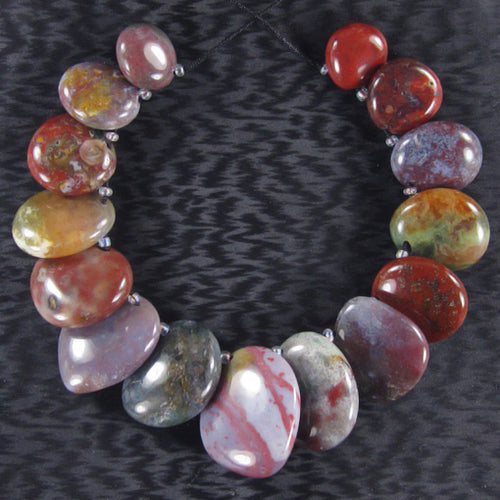 Fancy Agate Free-Form Beads in Graduated Sizes