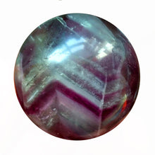 Load image into Gallery viewer, Fluorite Sphere 33mm in vivid purple with a bit of aqua.