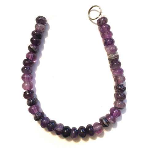 Fluorite Beads one 8 inch strand of 8mm rondelle beads