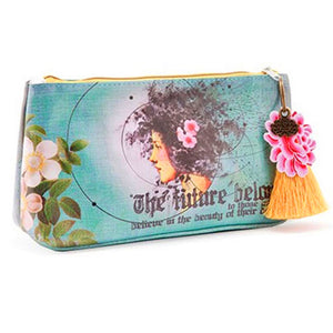 Future Beauty Small Tassel Accessory Pouch by Papaya Art!