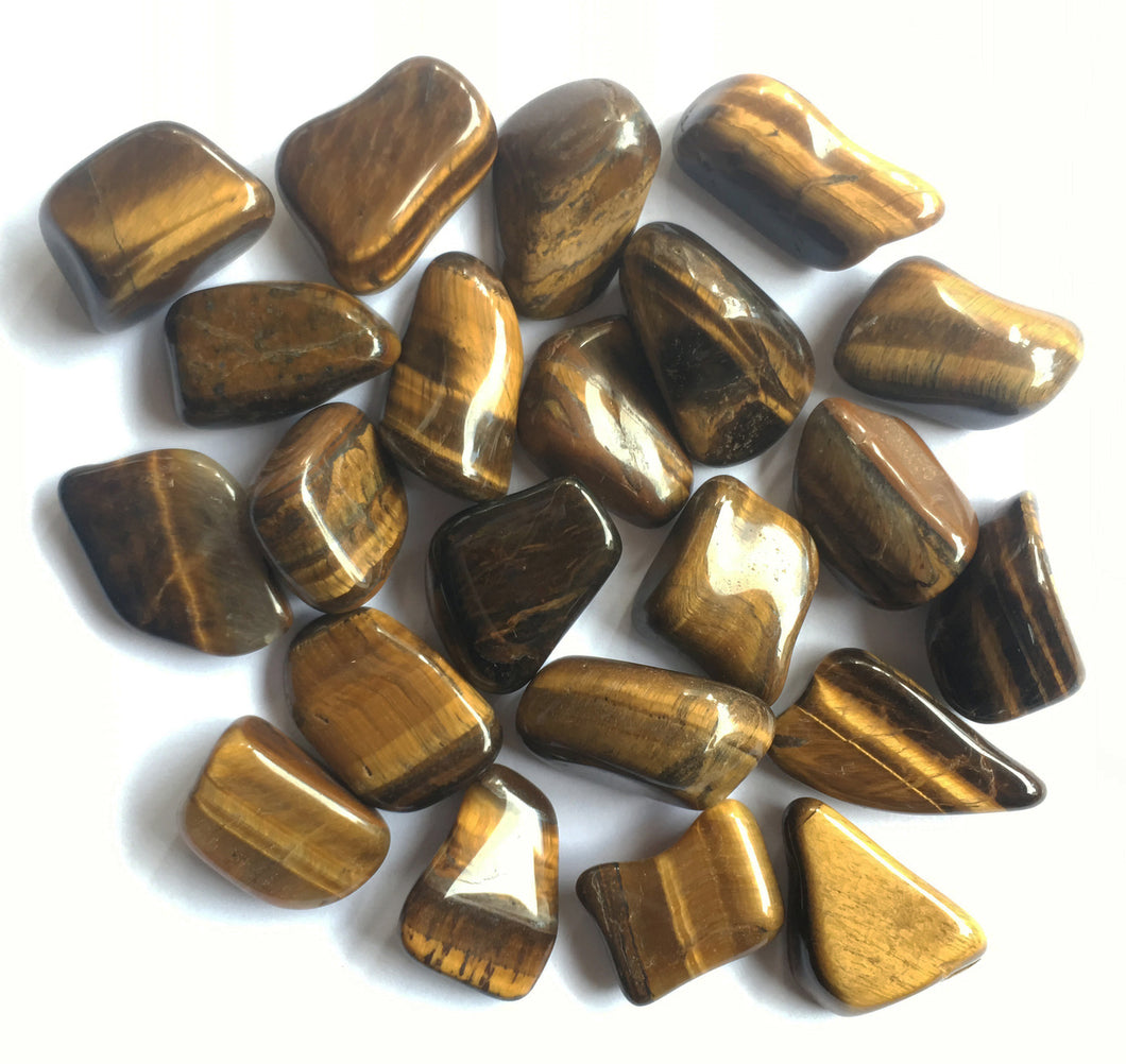 Golden Tiger's Eye Half Pound of Tumbled Bulk Stones