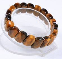 Load image into Gallery viewer, Golden Tiger's Eye Bracelet Faceted Oval Bead Bracelet for Success with Integrity