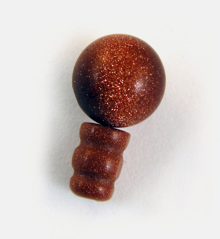 Goldstone 10mm Mala Guru Bead for Stringing Your Own Mala