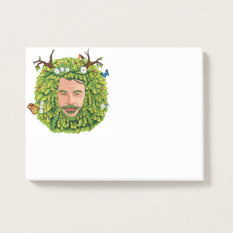 The Green Man Post-it® Notes