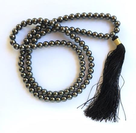 Hematite 8 mm Mala for Strengthening Your Blood and Kidneys