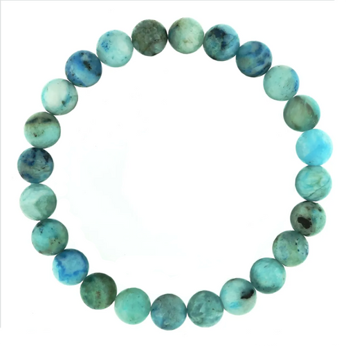 Hemimorphite Bracelet  of 8mm Round Beads