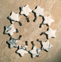 Load image into Gallery viewer, Howlite Star Pendant 18K Gold Plate Bail