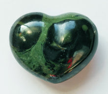 Load image into Gallery viewer, Kambaba Stone Mini Puffy Heart aka Crocodile Jasper