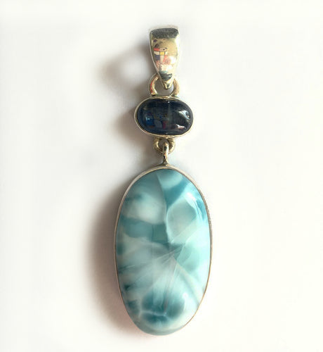 Larimar Pendant with Kyanite accent