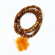 Load image into Gallery viewer, Yoga Beads Necklace Aromatic Sandalwood 8mm Mala Beads