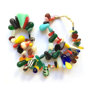 African Wedding Beads Necklace of Antique Czech Glass Beads