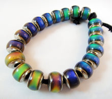 Load image into Gallery viewer, Strand of 20 Mirage Colorful Beads in Fat Tire Design