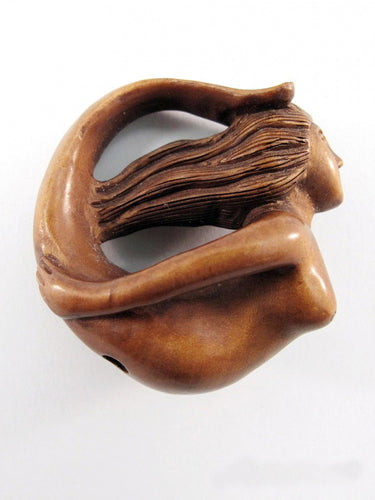 Circle Mermaid Netsuke Bead