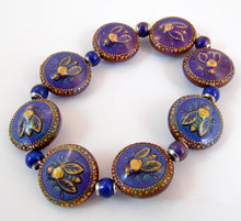 Load image into Gallery viewer, Honey Bee Mirage Bead Bracelet in size medium
